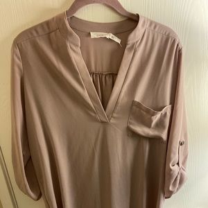 Light lavender Leith blouse